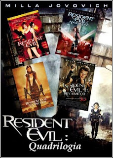 Download - Resident Evil (Quadrilogia) AVI - Dual Áudio