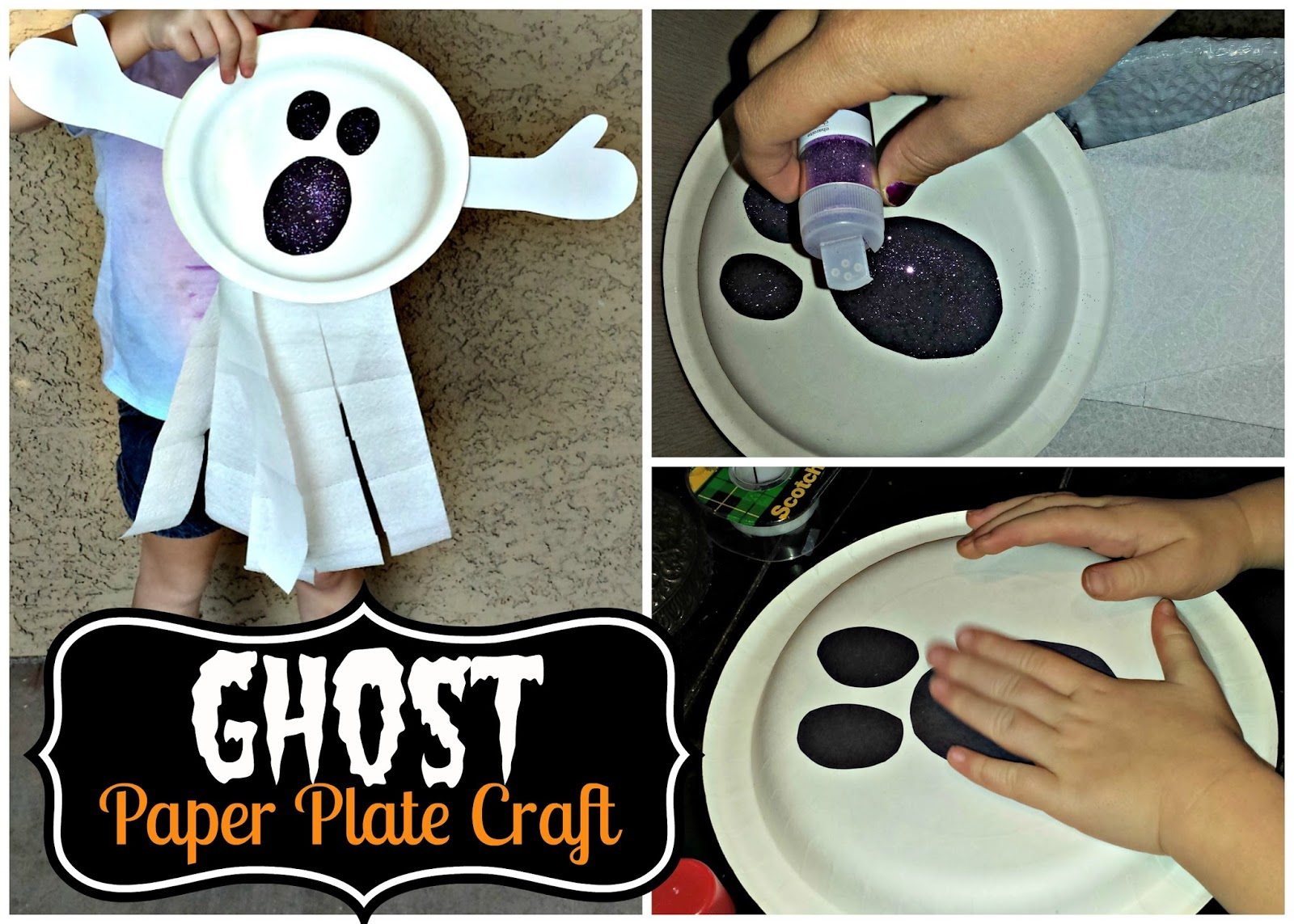 Paper Plate Ghost Craft For Kids Fun Halloween Art Project Crafty Morning