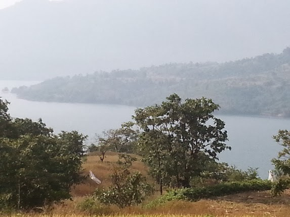 Mulshi back waters flowing majestically