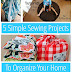 UHeart Organizing: 5 Simple Sewing Projects To Organize Your Home