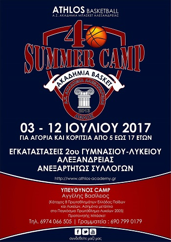 4ο Athlos Summer Basketball Camp στην Αλεξάνδρεια