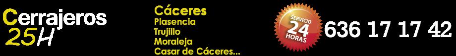 CERRAJEROS 25H CÁCERES - 636 17 17 42