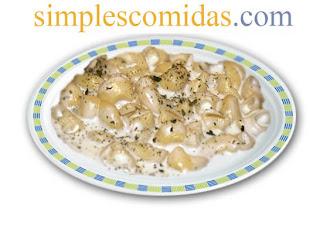 pasta con salsa roquefort