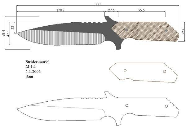 Как сделать нож схемы