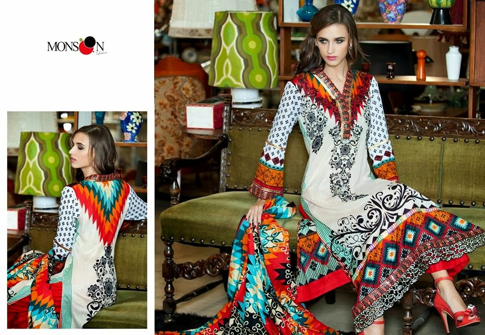MonsoonLawn2014ByAl ZohaibTextile wwwfashionhuntworldblogspotcom 09 - Monsoon Lawn Spring/Summer Collection 2014