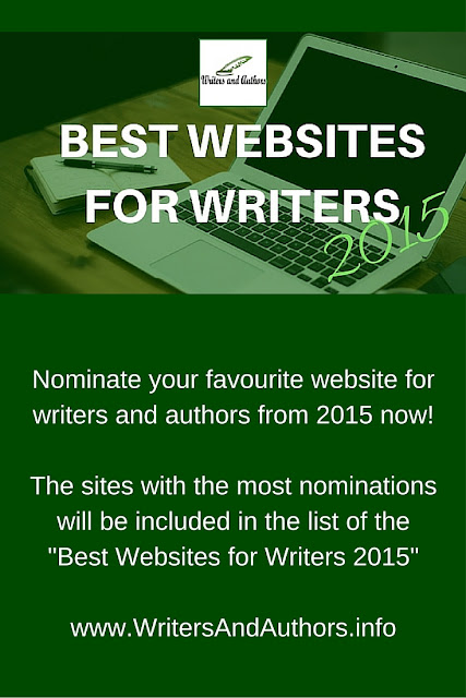 Vote Now for the Best Websites for Writers 2015 #Writing #Writers #Authors