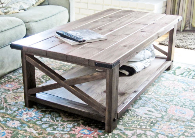 Rustic X End Table | Ana White