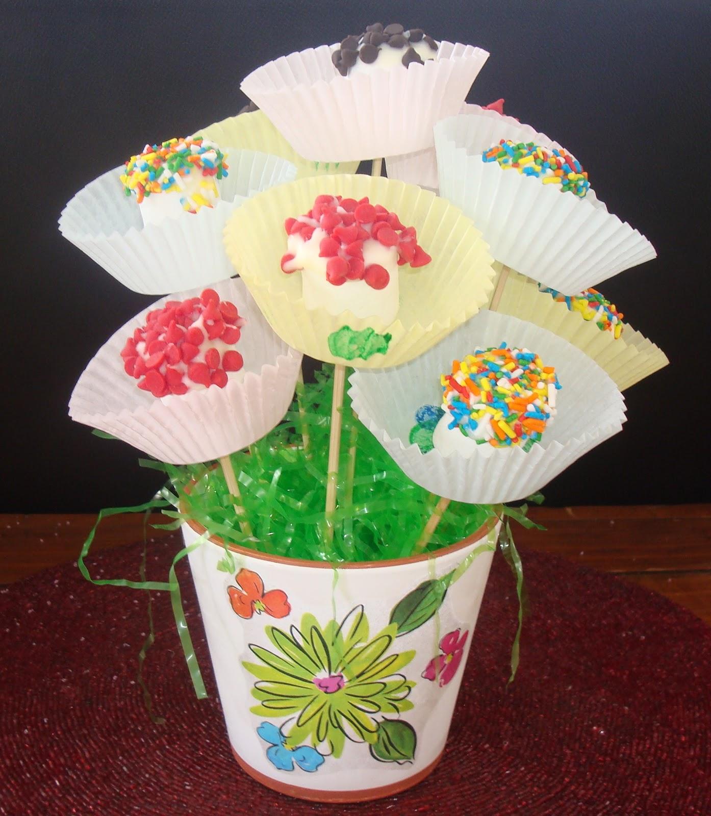 LoveNLoot: Marshmallow Treats - Flower Bouquet Take Two!