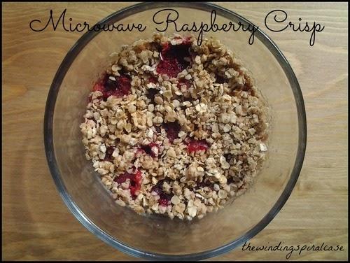 microwave raspberry apple crisp recipe