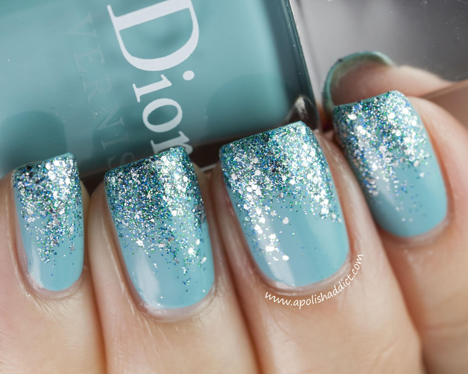 Watch - Sparkly blue nails tips video