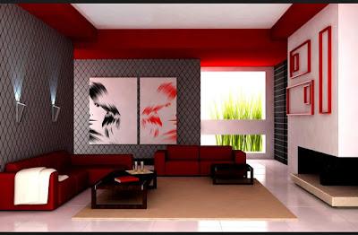 warna interior ruang tamu minimalis