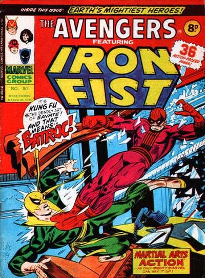 Marvel UK, Avengers #80, Iron Fist vs Batroc