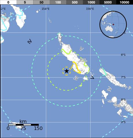 EMITEN ALERTA DE TSUNAMI TRAS TERREMOTO DE 7,5 EN PAPUA NUEVA GUINEA, 19 de Abril 2014