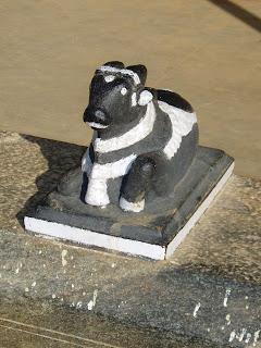 Black bullock statue