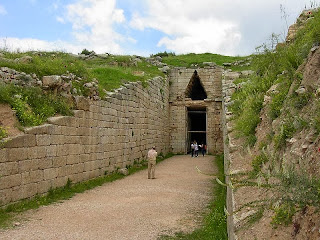 Treasury of Atreus, Tomb of Agamemnon located on Panagitsa Hill, Mycenae, Greece