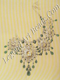 Working overtime in 1928 to meet the impatient demands of Bhupindar Singh of Patiala, the artists at Boucheron nevertheless produced imaginative designs, including this delicate necklace intended to showcase several large pale yellow diamonds.