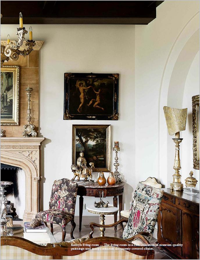 Old World Living Room Decor