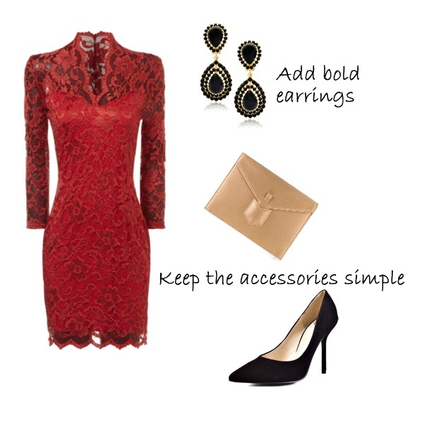 Delights how to style a red lace dress holiday party outfit ideas