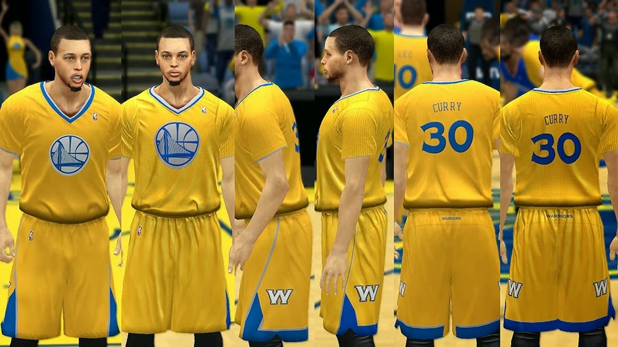NBA 2K14 Christmas Day Uniform - Golden St. Warriors