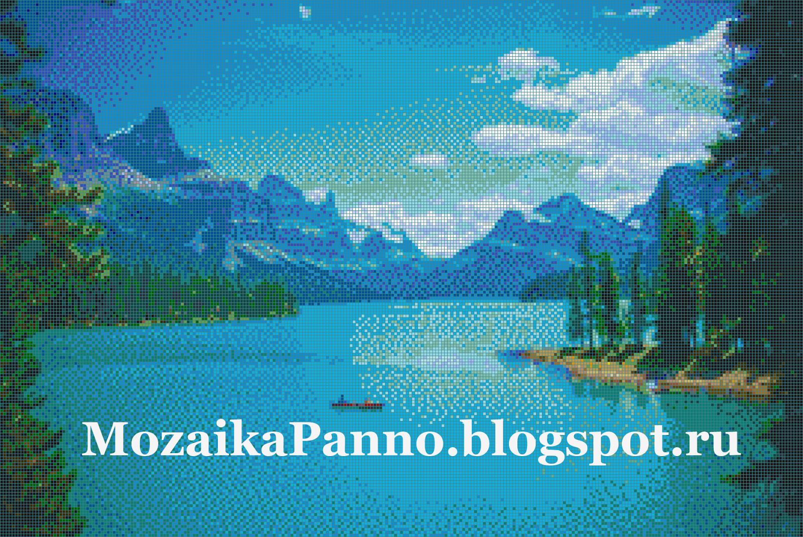 Мозаичная картина «Озеро в Канаде»