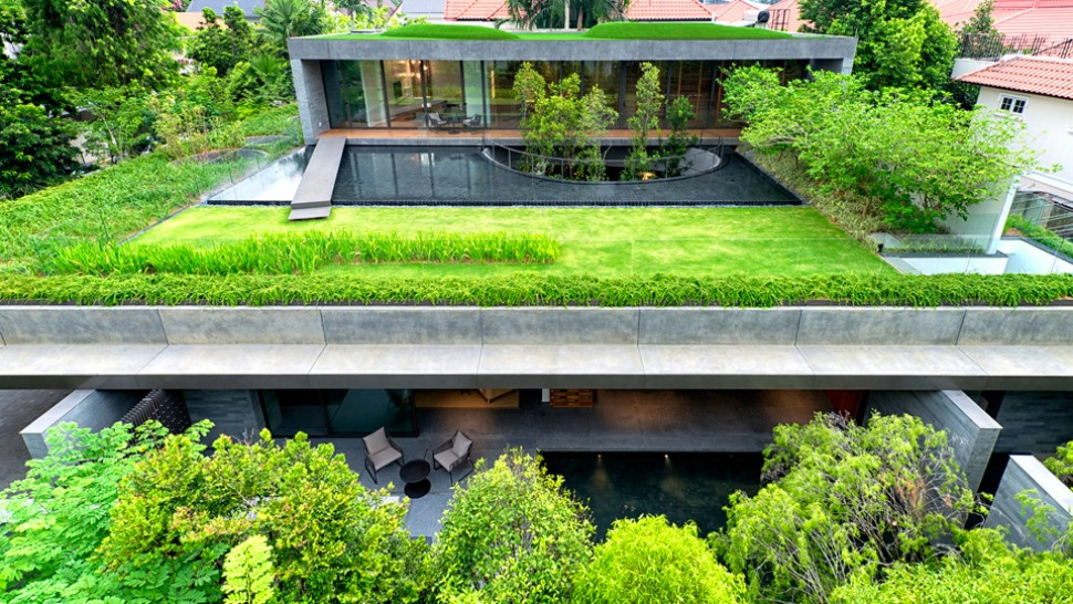 vive con sus padres en esta estilosa casa ecologica de pisos