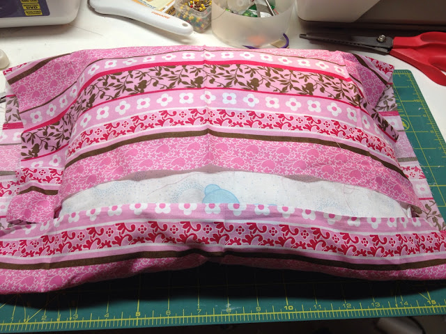 DIY toddler pillow case with fabric