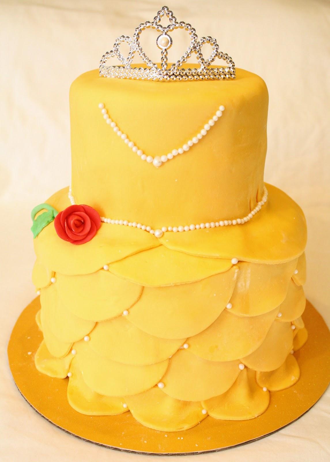 Disney Princess Belle Birthday Cake