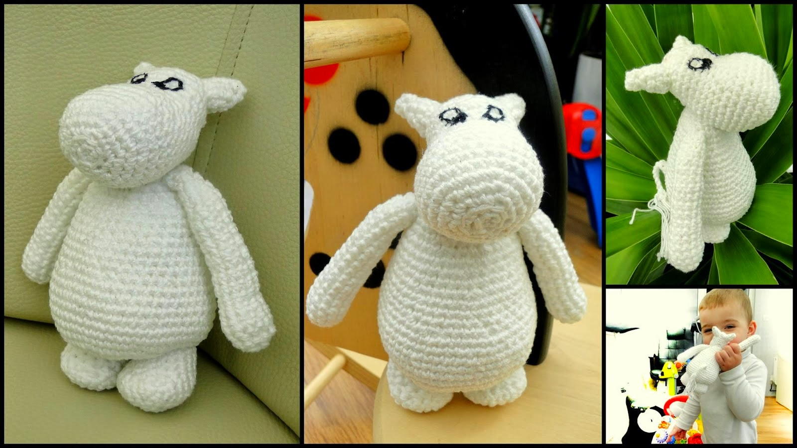 Very Easy Moomin crochet pattern