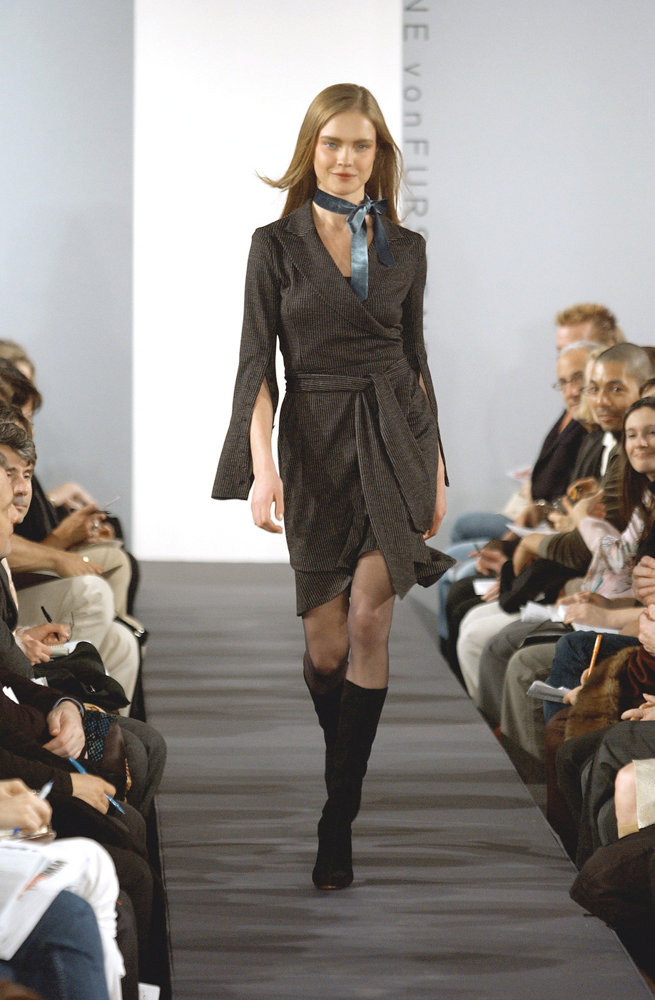 via fashioned by love | Diane von Furstenberg wrap-dress Fall/Winter 2003