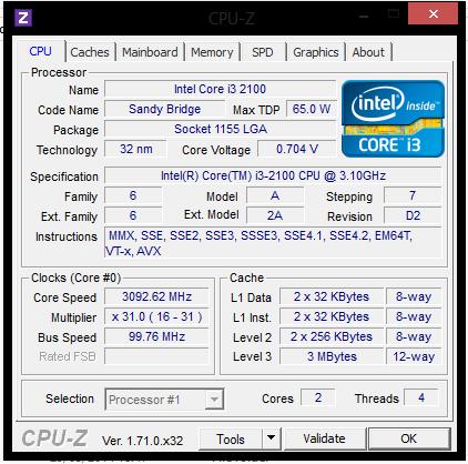 Cara Melihat Spesifikasi Komputer dengan CPUZ