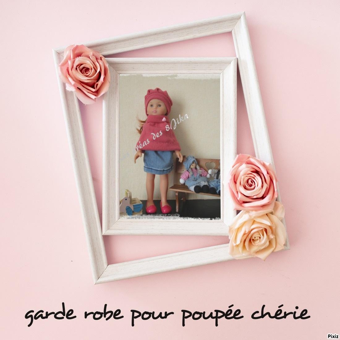 """Ma garde robe pour poupée """" les chéries"""""""