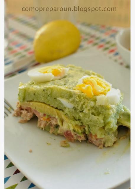 COMO PREPARO UNA CAUSA VERDE AL CULANTRO - Recetas / Recipes comopreparoun.blogspot.com