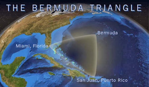 خريطة مكان تواجد مثلث برمودا