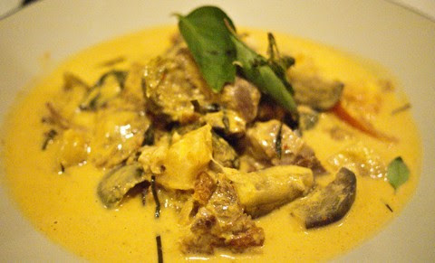 Duck and Eggplant Curry with Ginger Lemon Sauce