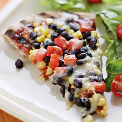 Super Healthy Corn and Black Bean Pizza
