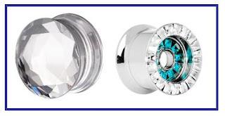 Gem Ear Plug Diamond Jewel Jewelry Alargador de Jóia