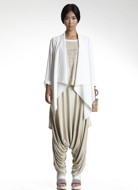 Classic max.tan draping from the Singapore label's SS13 collection