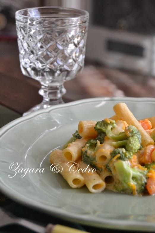 maccheroncini con broccoletti e zucca