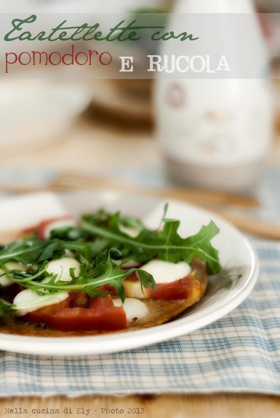 tartellette con pomodoro e rucola
