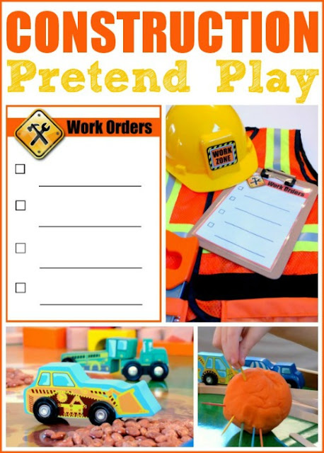 construction worker theme, pretend play, play prompt
