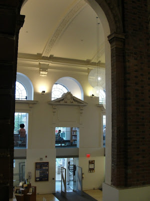 interior shot of library entrance