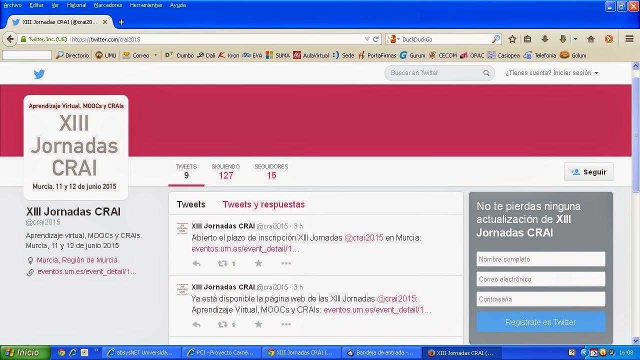 """""""XIII Jornadas CRAI - Aprendizaje virtual, MOOCs y CRAIs"""""""