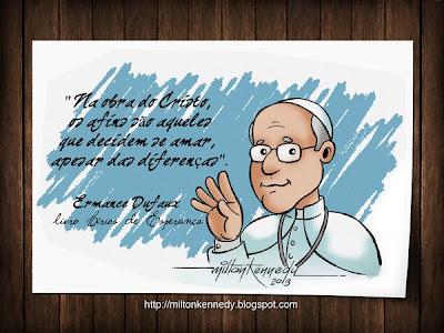 Papa Francisco caricatura