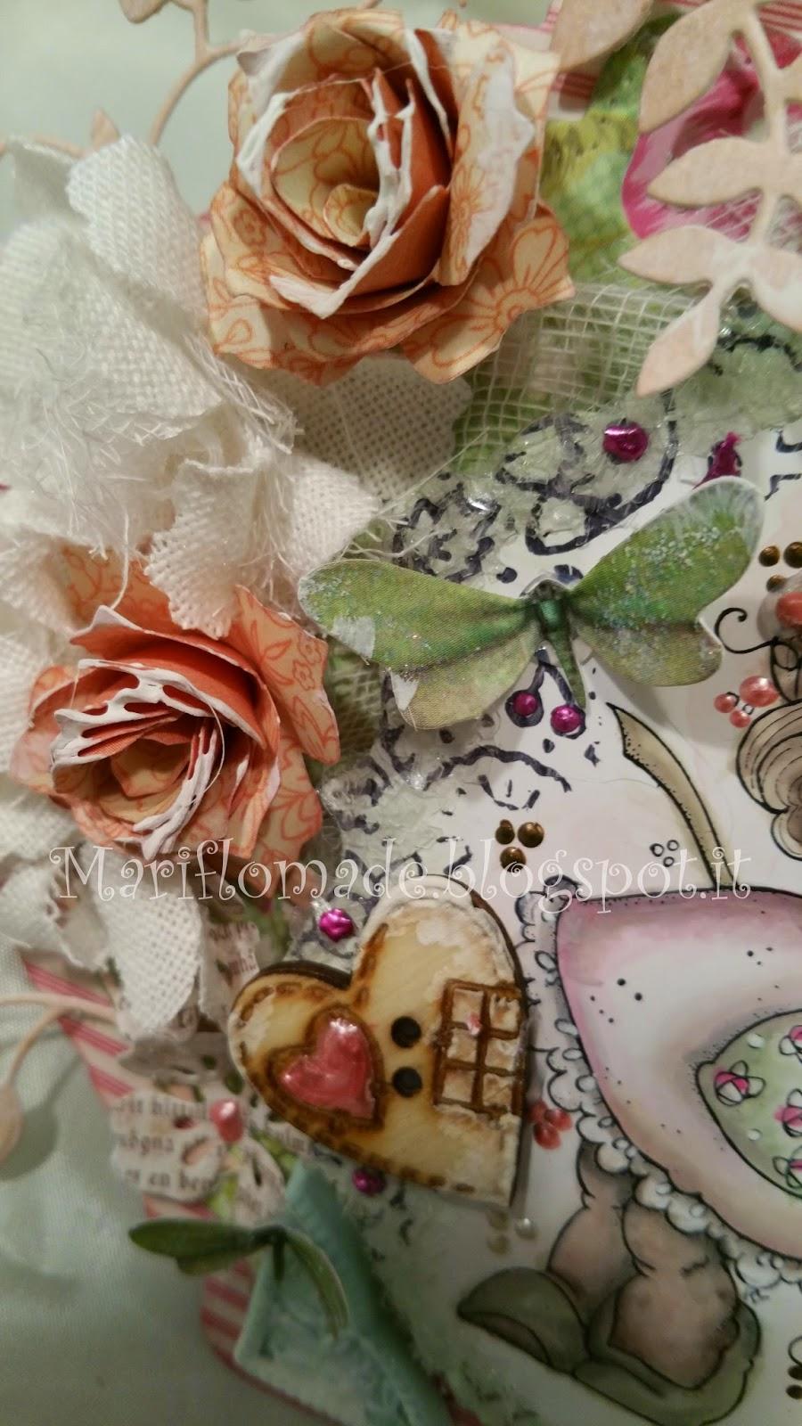 card, magnolia, Tilda, Fustelle, sizzix, Tim Holtz, primavera