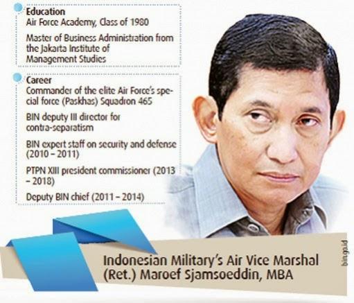 mantan Wakil Kepala Badan Intelijen Negara Maroef Sjamsuddin Presiden Direktur PT Freeport Indonesia