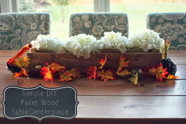 Wood Pallet Centerpiece : All things diy simple pallet wood centerpiece