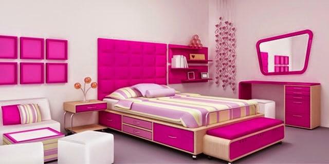 cara desain kamar anak perempuan minimalis lengkap