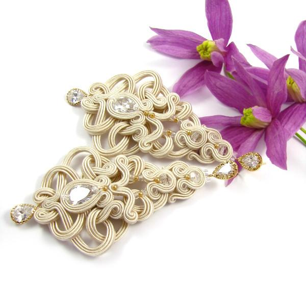 Sutasz biżuteria ślubna kolczyki PiLLow Design