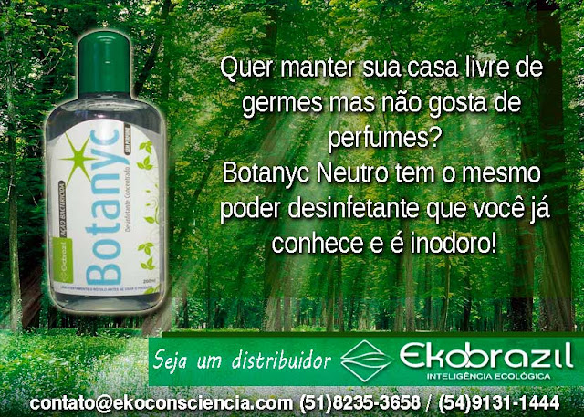 Ekobrazil Botanyc Desinfetante sem cheiro ou perfume Ecológico