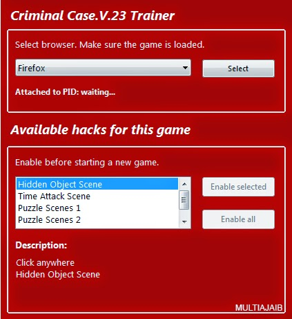 Criminal Case Trainer Free Download ( Semua Gratis )